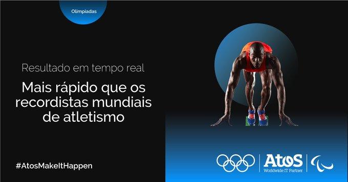 A Atos fornece em tempo real os resultados das #olímpiadas de todas modalidades esportivas...
