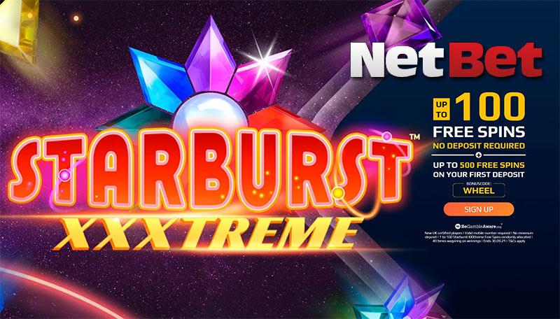 netbet casino no deposit free spins on Starburst XXXtreme