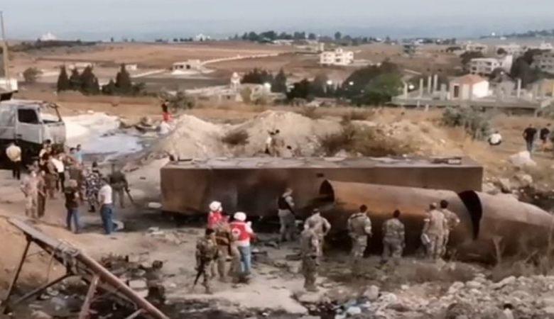 לבנון: 20 בני אדם נהרגו 79 נפצעו בפיצוץ מכלית דלק שבבעלות החזבאללה בעיר אל טליל באזור עקר בצפון לבנון E80Ke0zXoAAxTA-?format=jpg&name=900x900