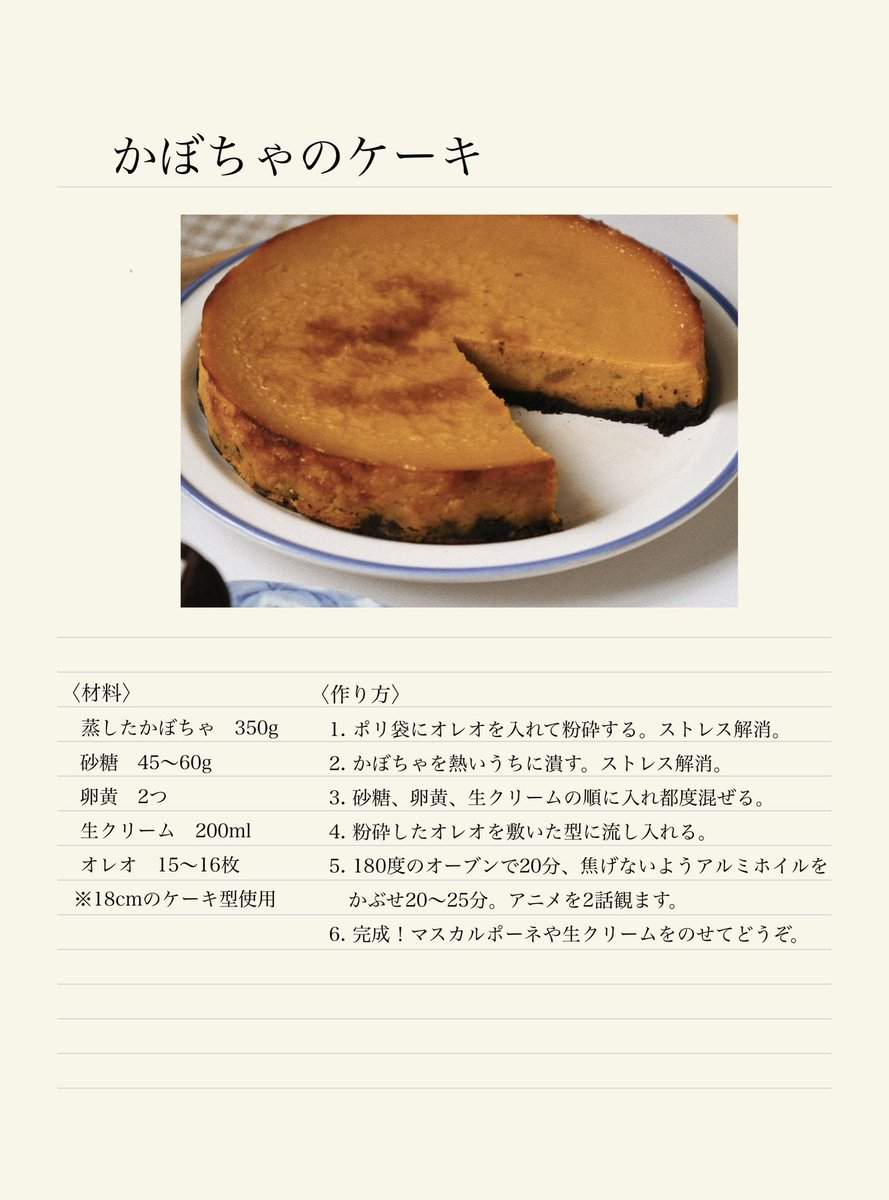 かぼちゃのケーキの作り方一斉紹介!とても美味しそう!