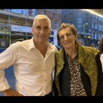 What a ledge on a night out in London! @ronniewood - back in the day my dad actually opened for the Rolling Stones after @MickJagger saw his infamous table levitation on The Dave Allen Show