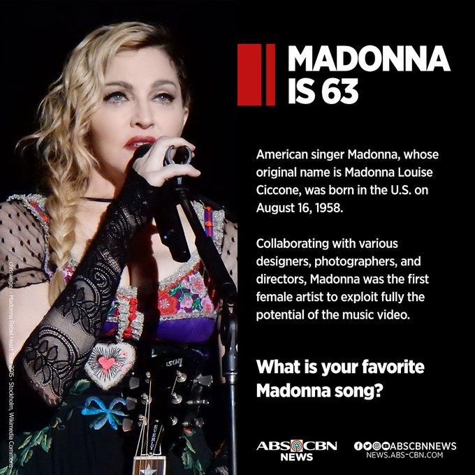Happy birthday, Madonna! Ano ang paborito mong awitin niya?