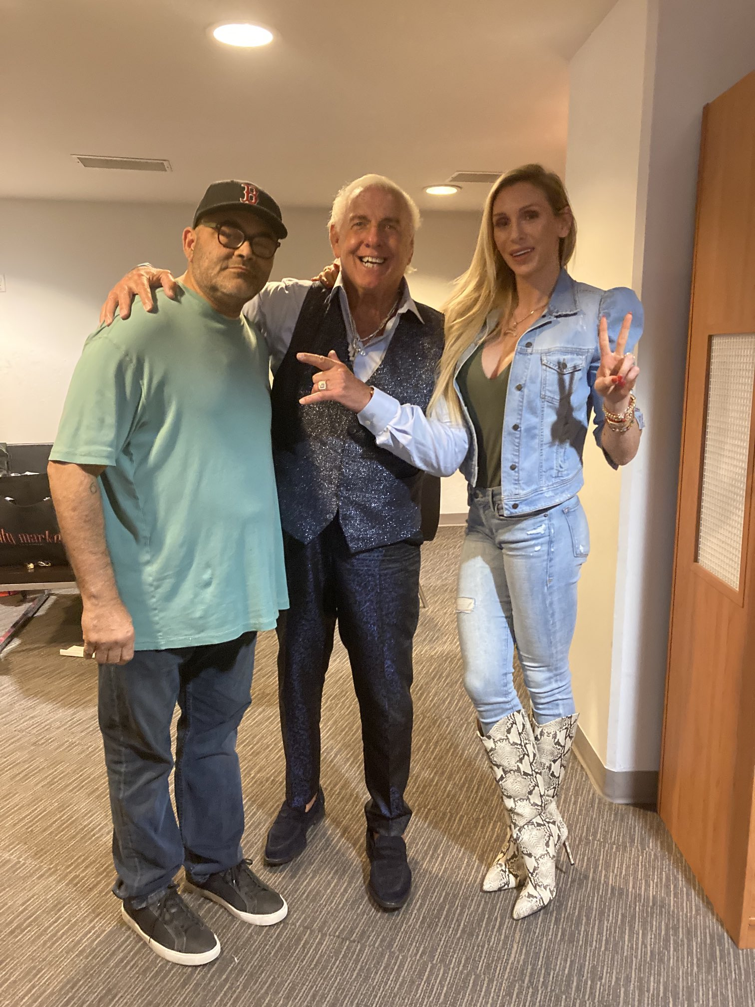 WWE Legend Ric Flair And Charlotte Flair Attend AAA TripleMania 38