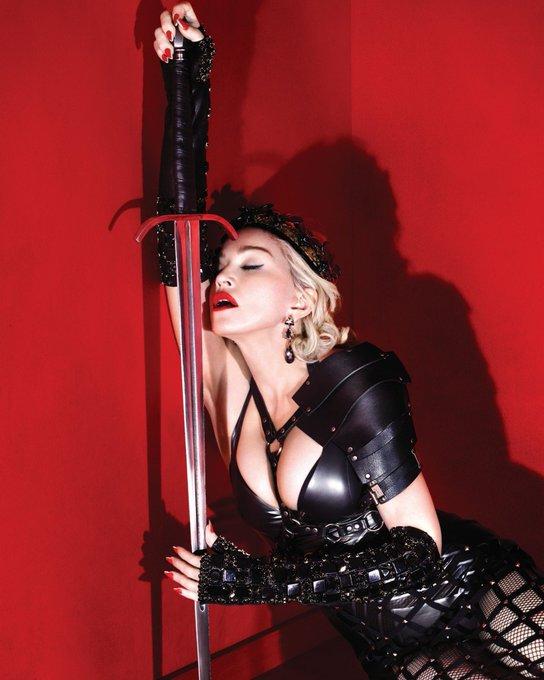 Everybody say happy birthday Madonna