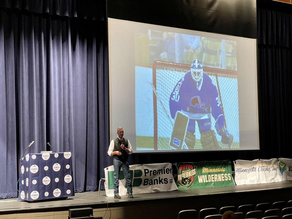 """Meantal health takes center stage at @HawksISD700 tonight. Former NHL goalie & author of """"The Crazy Game,"""" @cmalarchuk shares his powerful mental health journey on & off the ice. """"Menatal health does not discriminate."""" FULL STORY: tonight on @KBJR6news & @CBS3Duluth at 10!"""