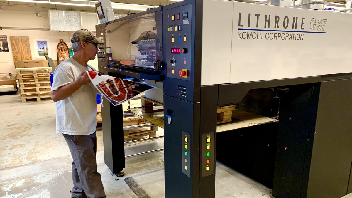 Very impressive! We are happy to see your #Komori GL37 is delivering on the productivity needed to make this big job happen!!