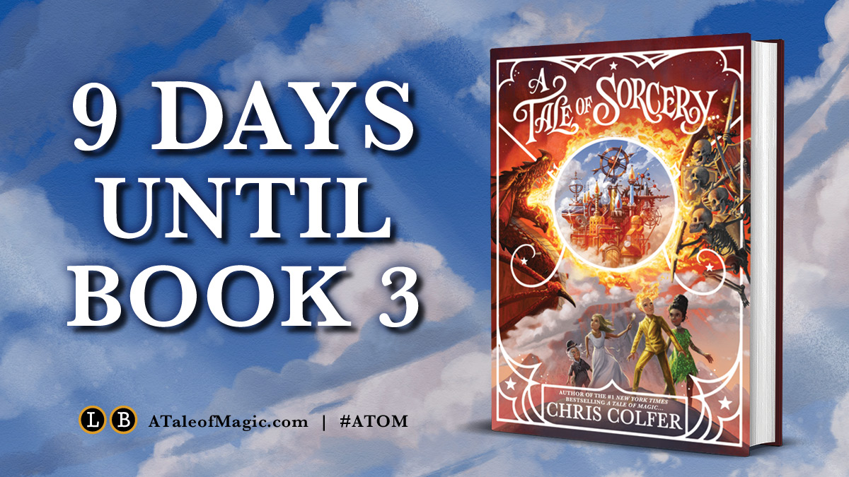 OMG OMG OMG *sweating in anxious excitement* Preorder your copy of @chriscolfer's A TALE OF SORCERY... here: bit.ly/ATaleOfSorcery #ATOM