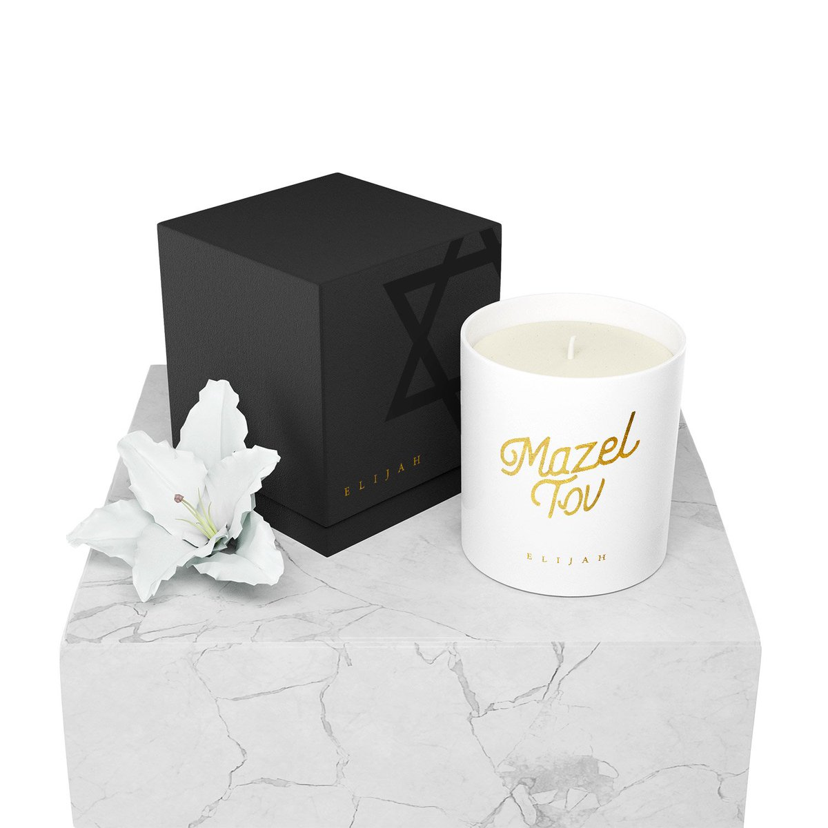 Our Mazel Tov Candle features our fresh Mint & Hyacinth Fragrance inspired by the 'Borei Isvei Vi'samim' Blessing that is traditionally said over mint and hyacinth plants. 🌱