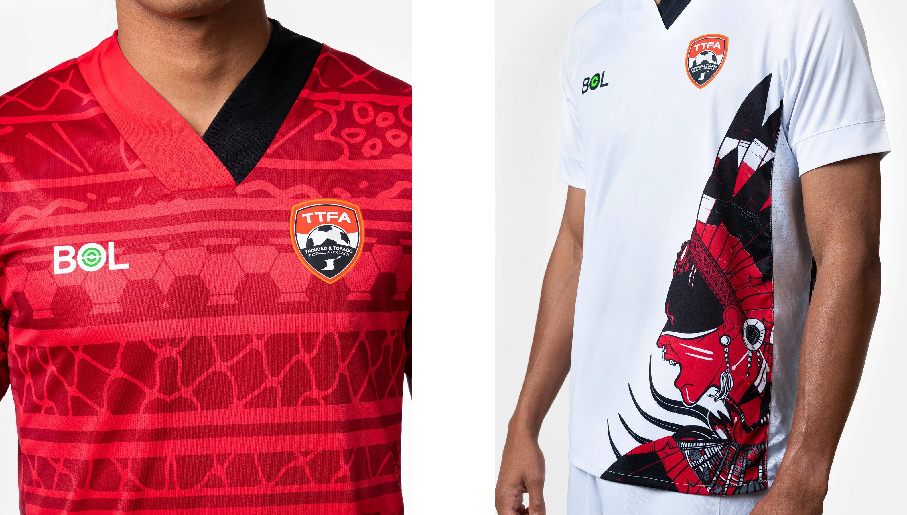 Trinidad and Tobago home and away kits by BOL Football
