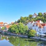 Image for the Tweet beginning: #Tübingen lies along the Neckar