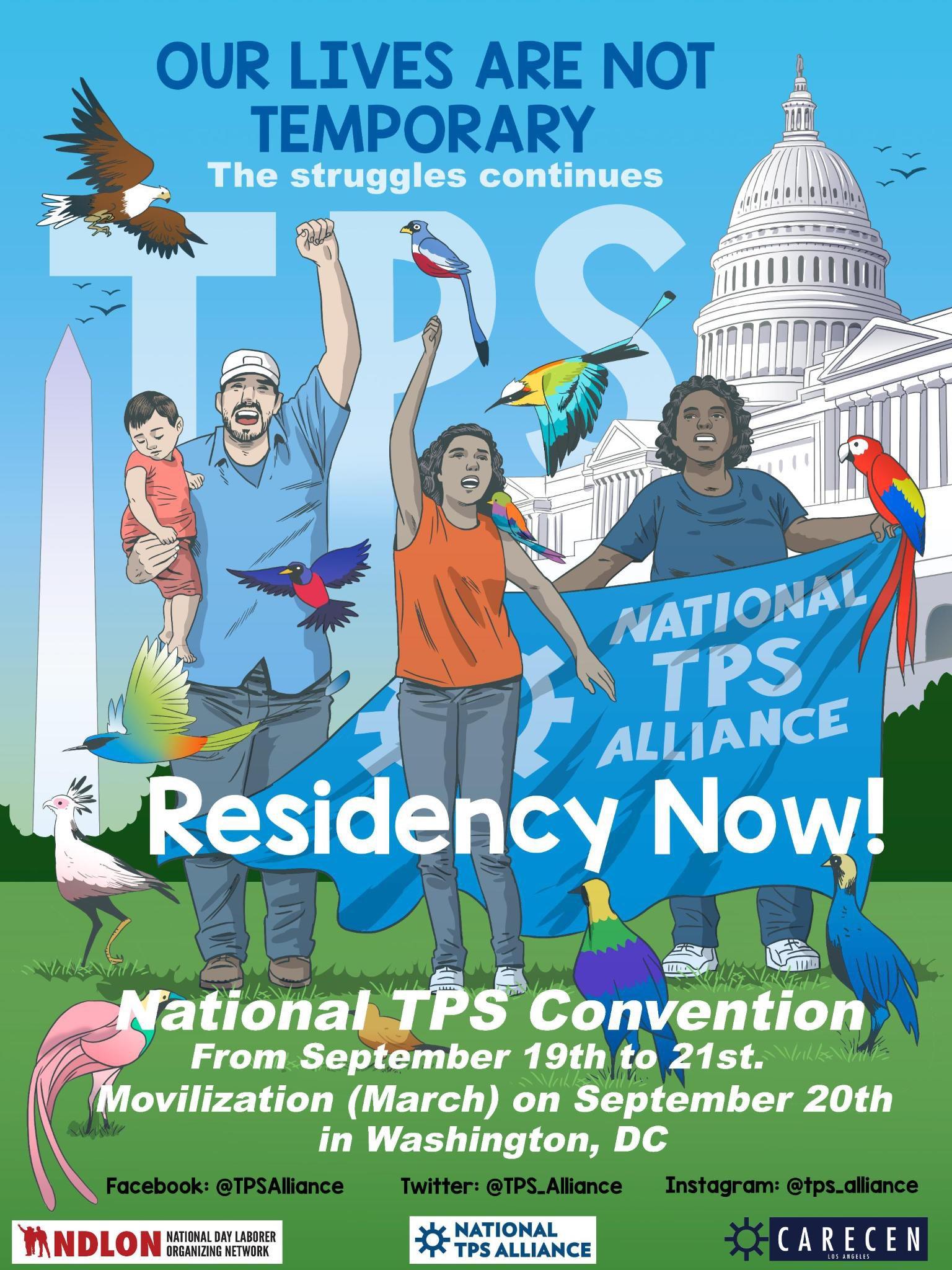 Alianza Nacional por el TPS pide residencia permanente