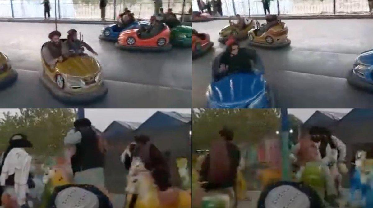 """ZonaCero's tweet - """"Con fusiles en mano, talibanes disfrutan de """"carritos  chocones"""" y los """"caballitos"""" en Kabul """" - Trendsmap"""