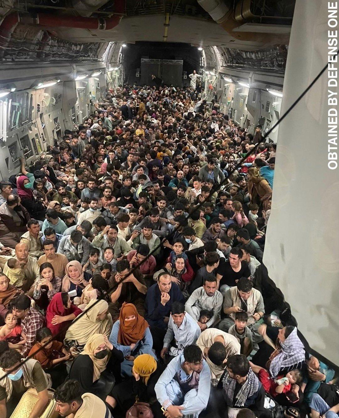 People fleeing Afghanistan