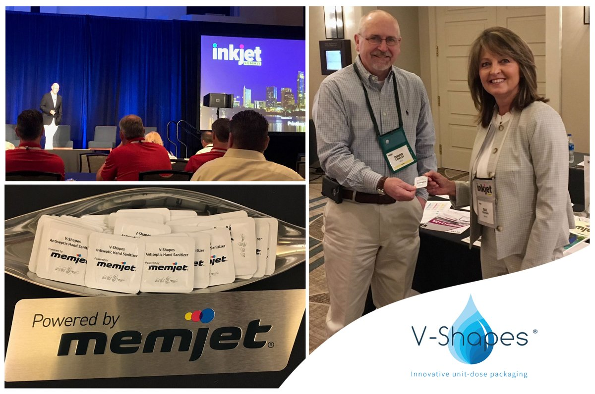 Thank you for supplying the hand sanitizer sachets and we appreciate the partnership @v_shapes!  The V-Shapes Alphaflex is Powered by Memjet DuraFlex Technology and is truly revolutionizing the #packaging industry through its single-dose sachets.  https://t.co/lP0GqpE1Jm