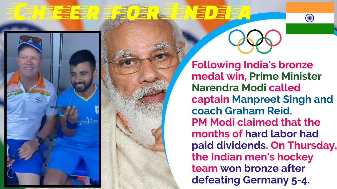 Thanks for all your hard work: PM Modi to hockey captain Manpreet and coach Reid
