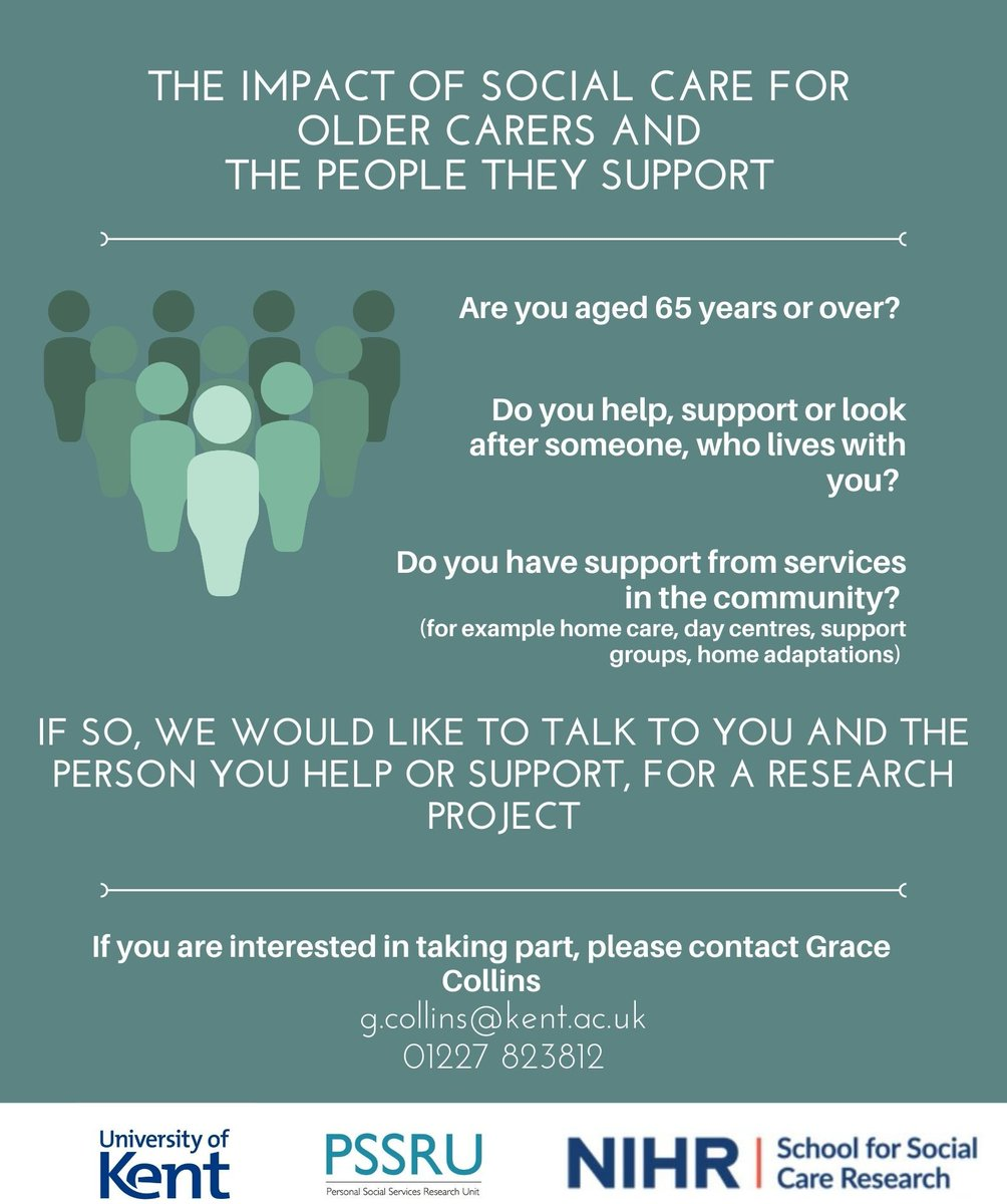 We've started recruitment for the @NIHRSSCR funded DYADS study. If you're interested, please contact Grace Collins @GraceCllns: g.collins@kent.ac.uk. Please retweet!  https://t.co/x43RYB21qT https://t.co/735imiKV8a