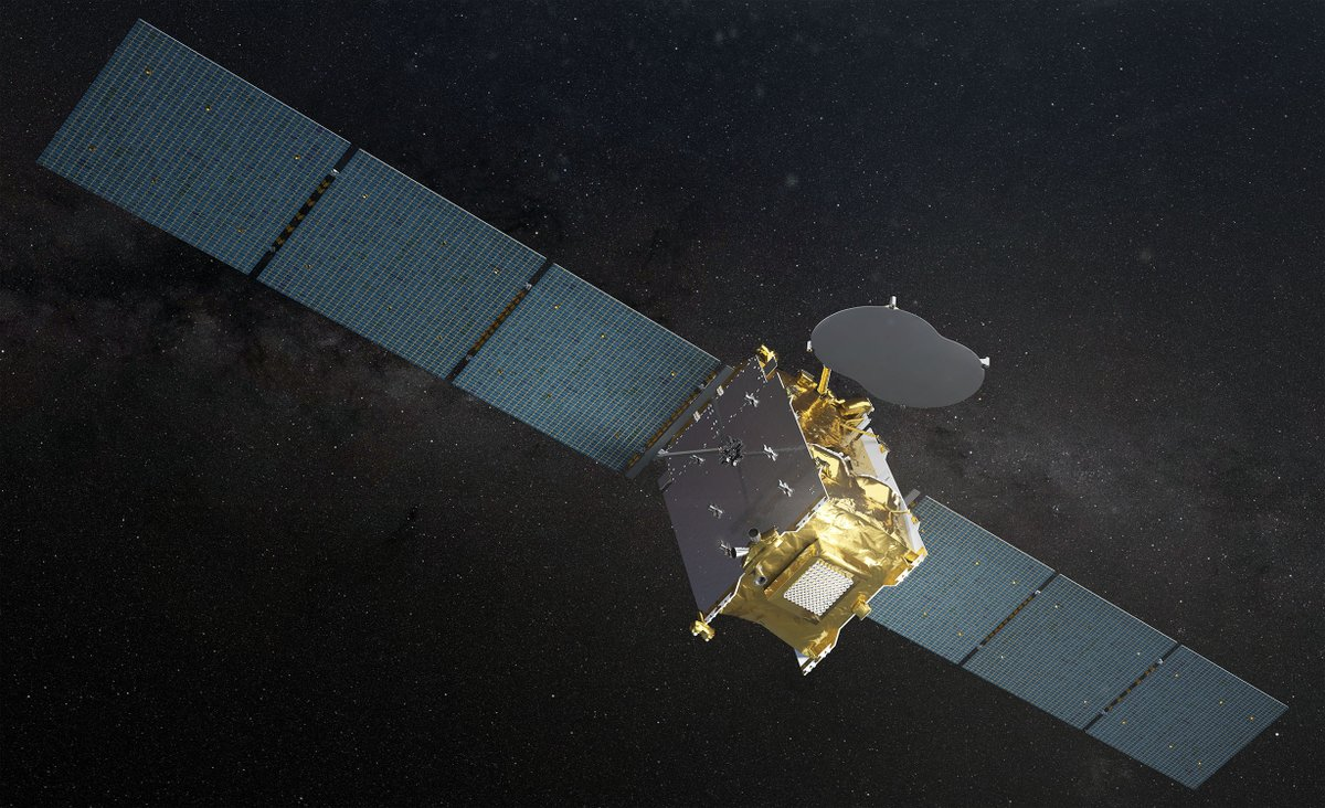 #EUTELSATQUANTUM stretches its wings! Both solar panels ✅ and reflector ✅ have been successfully deployed 🛰️ Post-launch maneuvers are performing according to plan. Congratulations to the team! 👏 https://t.co/UbDwkVL7Vg