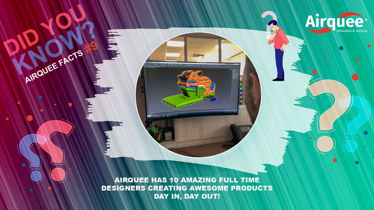 DID YOU KNOW❓ Airquee Facts #9 We have 🔟 amazing full time designers creating awesome products day in, day out❗️ #airquee #Facts #howwedo #findout #askmehow #products #inflatables