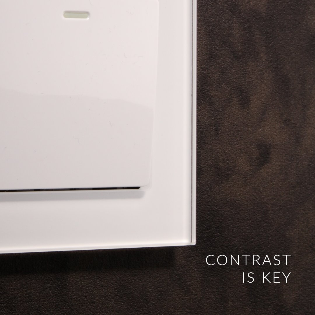 Going bold with your interior will gain you compliments. Build contrast with your interior and your switches & sockets using our crystal range. retrotouch.co.uk/rocker-light-s… #contrast #interiordesign #switches #retrotouch #white