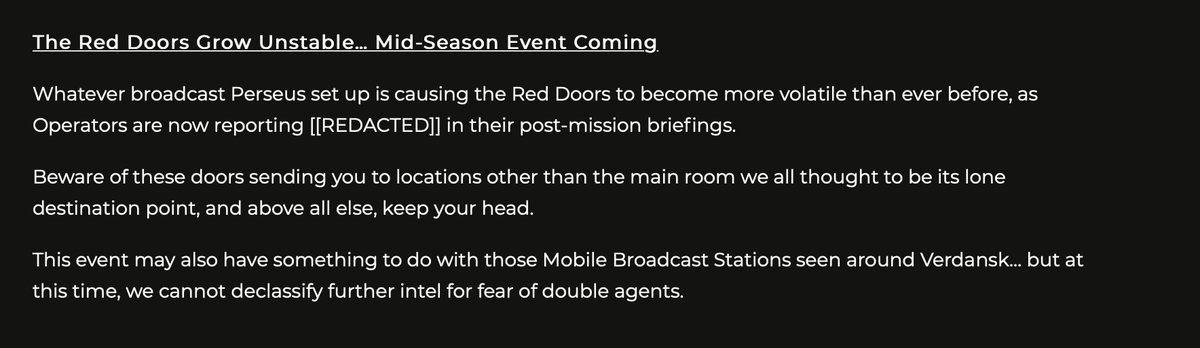 A mid-season event in relation to The Red Doors is coming. https://t.co/2Y6e1wjN1z