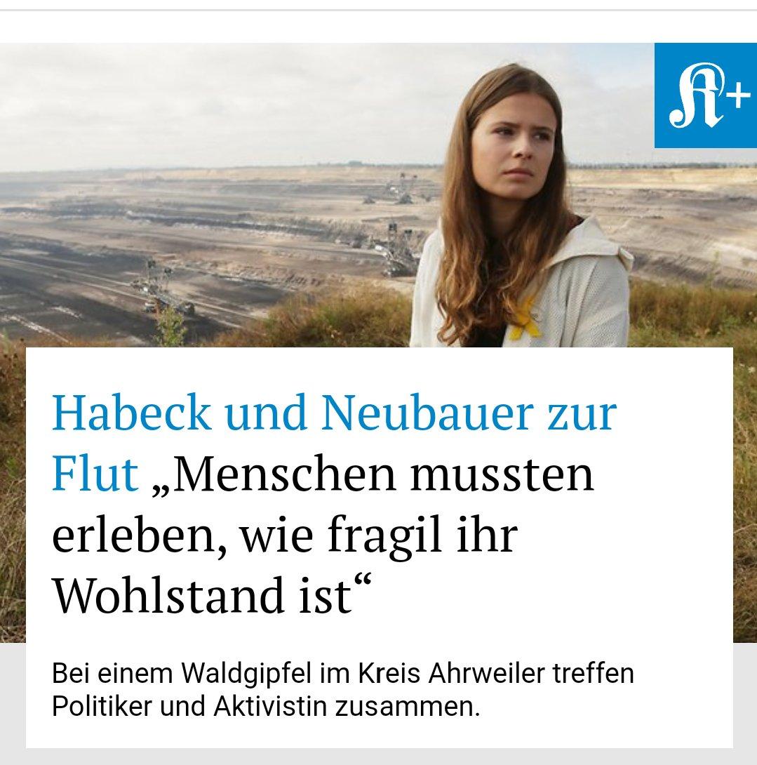 RT @KSTA: Die Bilder und Schicksale nach der Flutkatastrophe lassen auch Grünen-Chef #Habeck und Klimaaktivistin #Neubauer nicht kalt. Jetz…