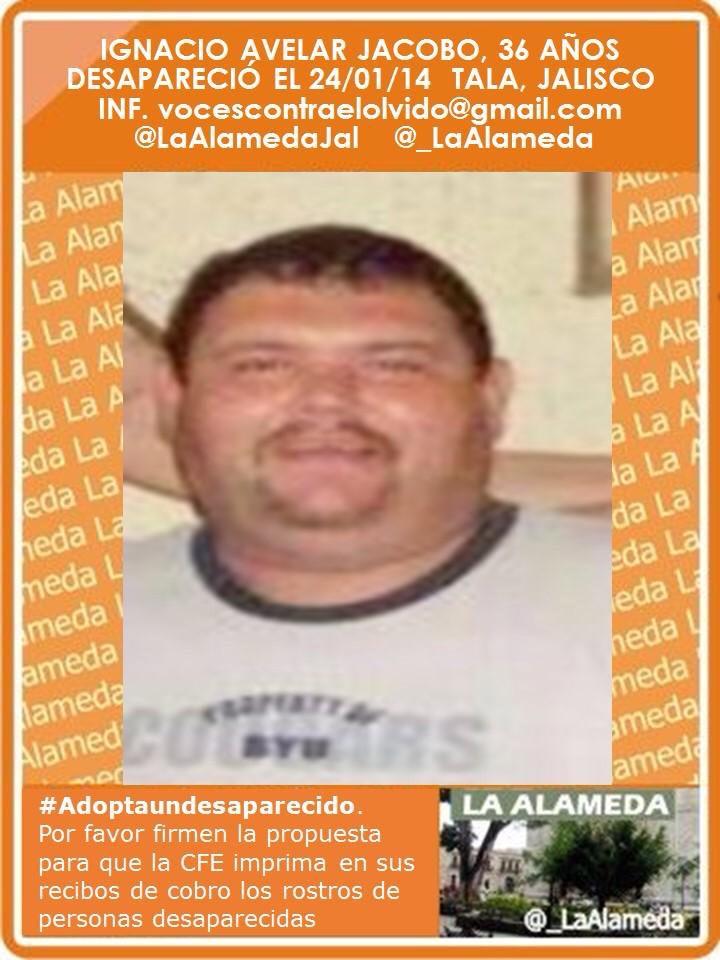 RT @LaAlamedaJal: #TeBuscamos Ignacio Avelar Jacobo. tala, jalisco #Jalisco https://t.co/PrU7W8tknD