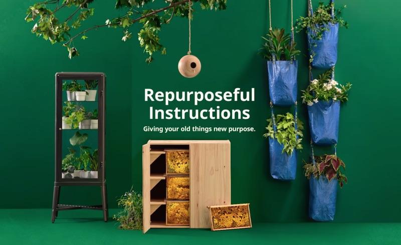 使わなくなったイケアのアイテムをサステイナブルなアイテムとしてリユースするアイデア「IKEA Repurposeful...