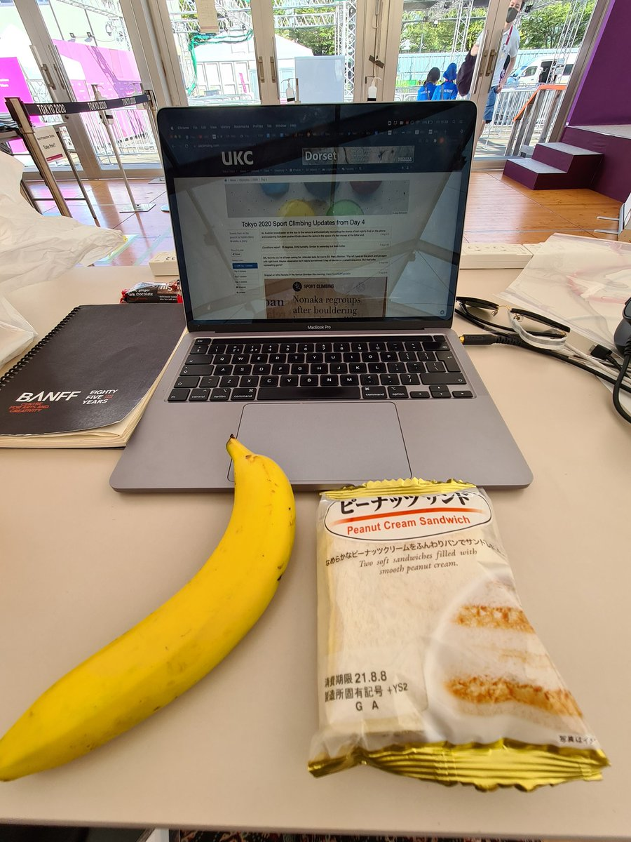 I'm ready. Peanut cream sandwiches and a banana for sustenance. Bring on the women's finals!   https://t.co/WhcvgJ5vHR