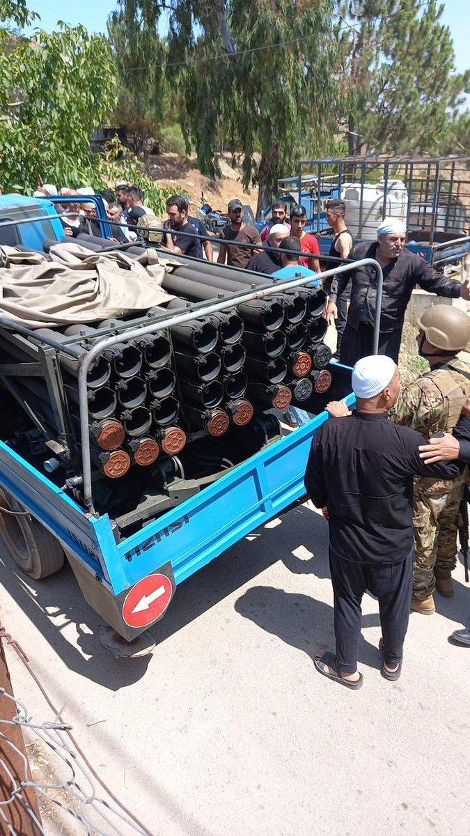 جماعة الاسد – نصرالله ارسلوا شاحنة تقصف صواريخ من قرية شويا الدرزية في حاصبيا