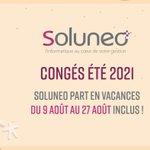 Image for the Tweet beginning: Soluneo part quelques jours en