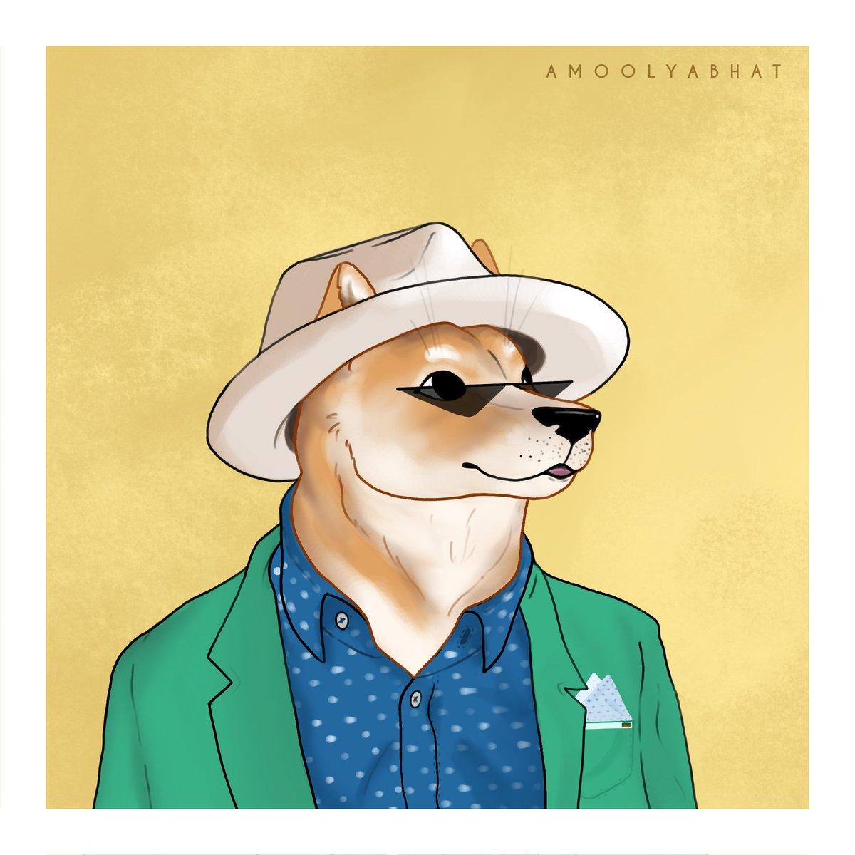 #doggust 01 - Suave Doge   #dogecoin #Dogecoinarmy #DogecoinToTheMoon #DogsofTwittter #DogeFam #doge #ArtistOnTwitter #shiba #shibainu #ShibaArmy #illustration #artchallenge #artist #nftforcharity #nftart #NFTsForGood #NFTshill #NFTcollectibles