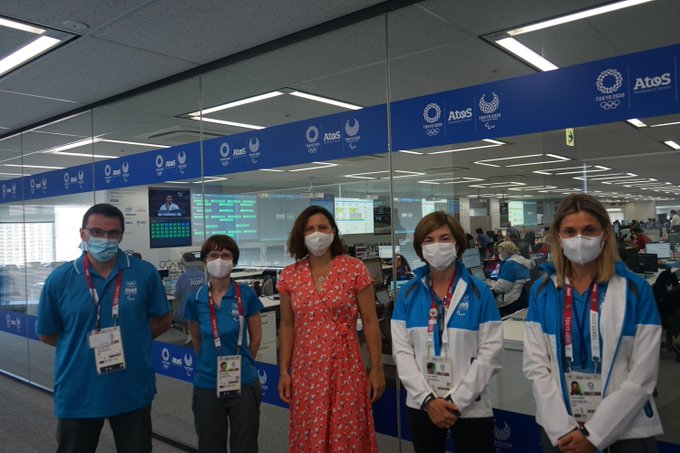 .@RoxaMaracineanu, Minister Delegate @Sports_gouv, visited the @Olympics & @Paralympic Techn...