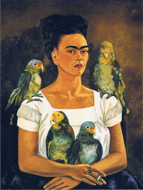 Frida Kahlo, Me and my parrots, 1941 #WomensArt