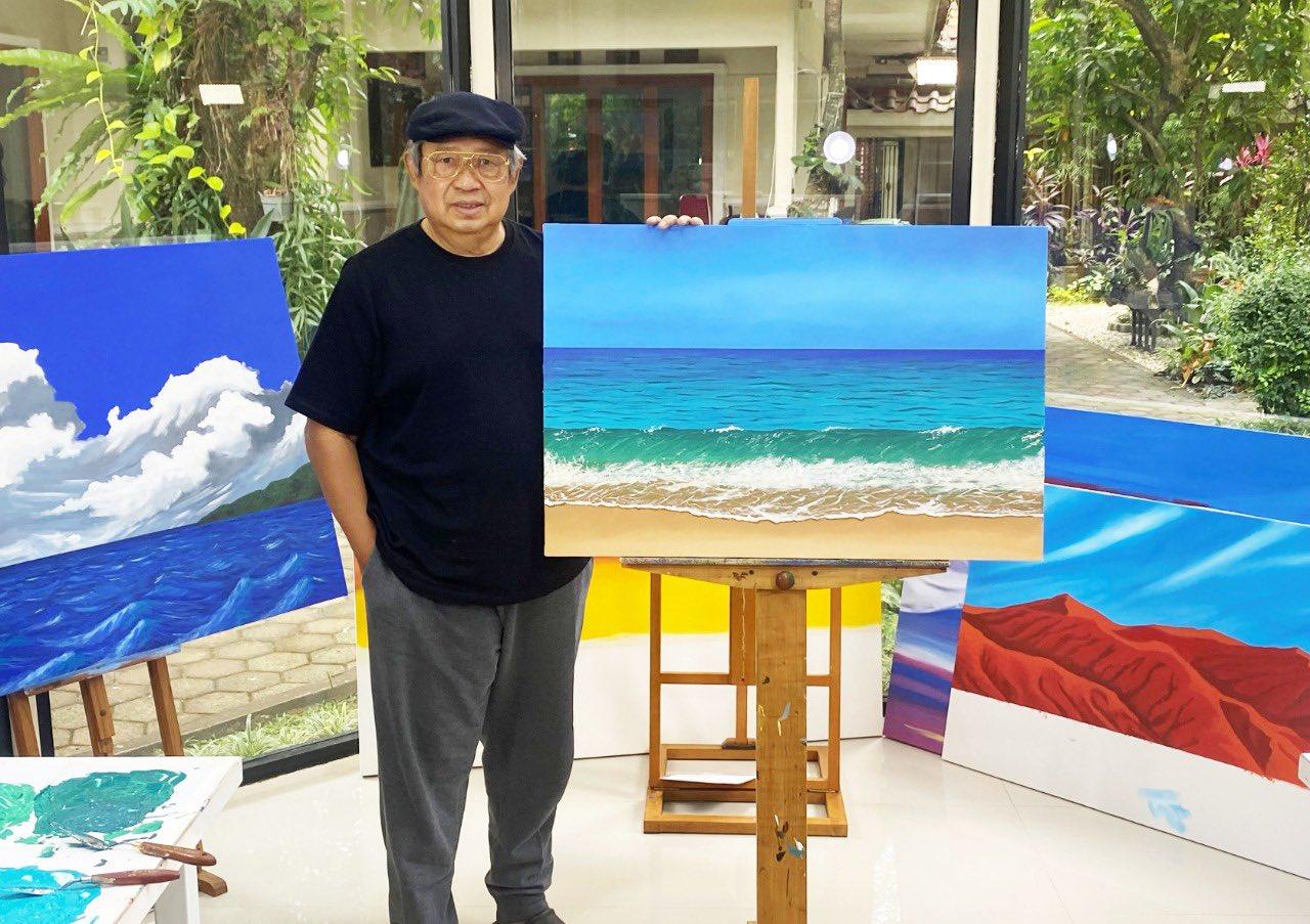 Melukis Jadi Hobby SBY Selama PPKM, Begini Karyanya