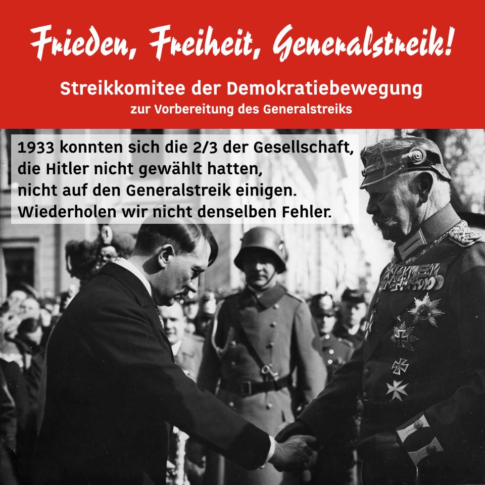 Demokratiebewegung 4. September - Sofortige Rücknahme des Ermächtigungsgesetzes und aller Einschränkungen der Grundrechte! - Auf die Strasse zur Vorbereitung des Generalstreiks in Deutschland!