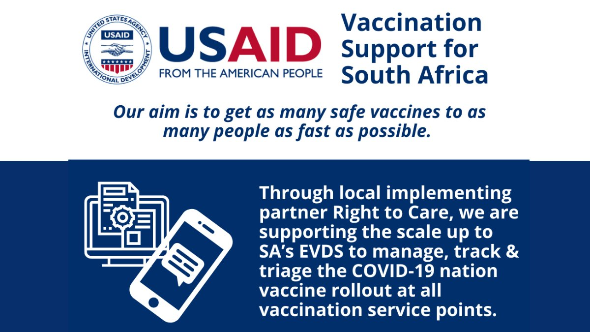#SouthAfrica has had the most cases of #COVID19 in sub-Saharan Africa and been battling a bad #3rdWave wave due to the #Delta variant. These vaccines will bolster @USAID_SAfrica's support of the vaccine supply chain, vaccine education, as well as direct vaccine service delivery. https://t.co/XMjvdg0OuI