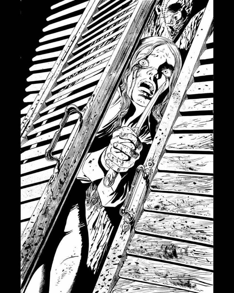 Some #preview pages from #TheJoker 6 drawn by yours truly have been released by #DCComics. You may enjoy comparing the #b&w #lineart with the #finalart with #awesome #colors by @arifprianto.arf #Joker #ComicBooks instagr.am/p/CSSWJFUMEV_/