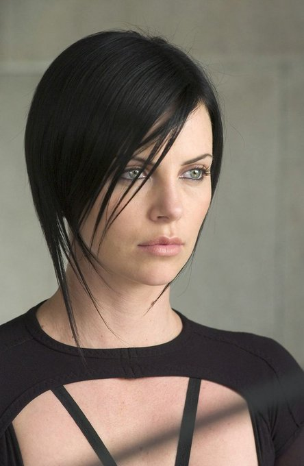 Happy birthday to Charlize Theron, star of \Æon Flux,\ \Atomic Blonde,\ and \The Old Guard\ (