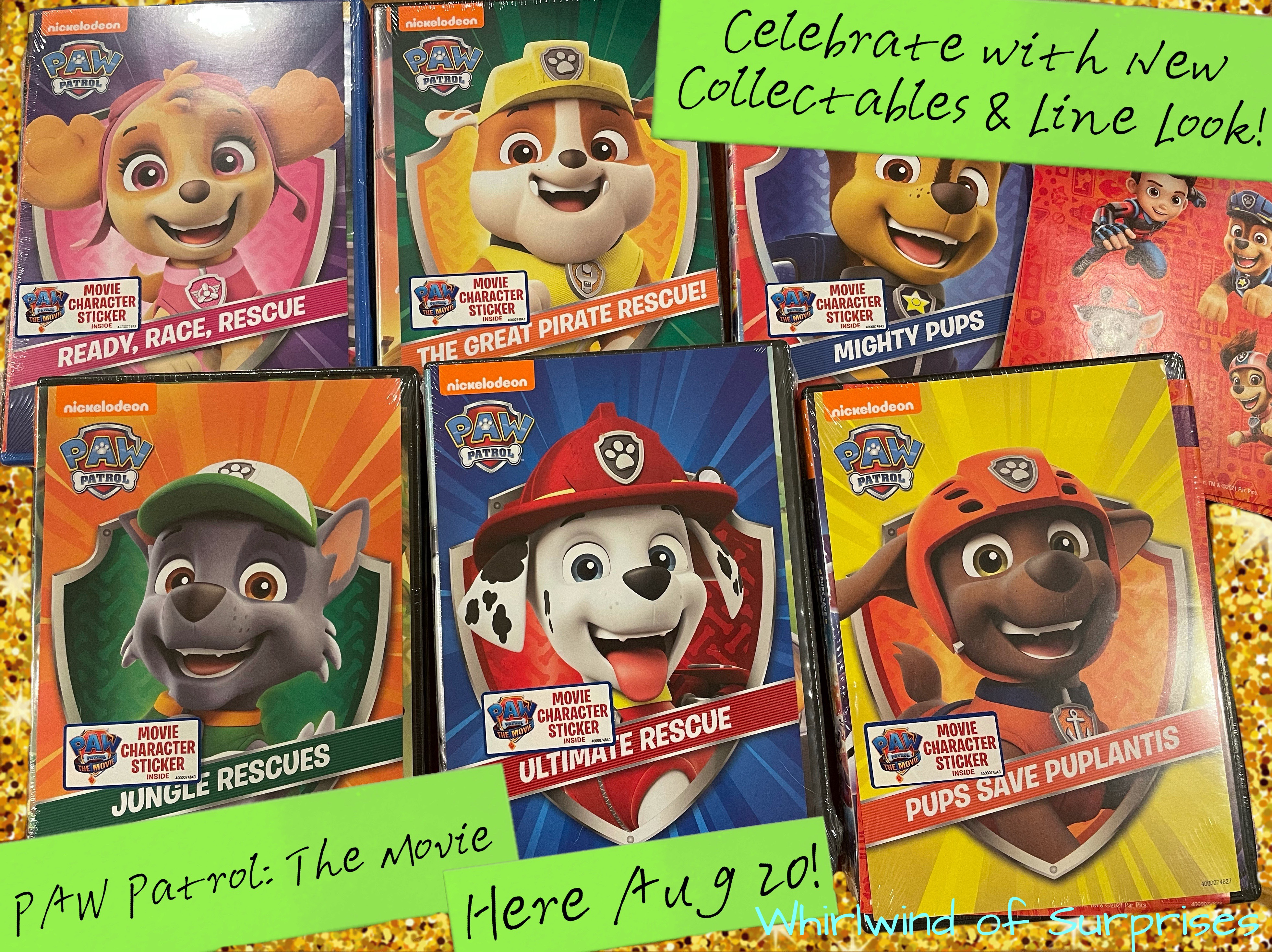 PAW Patrol: The Movie Line Look and Collectibles