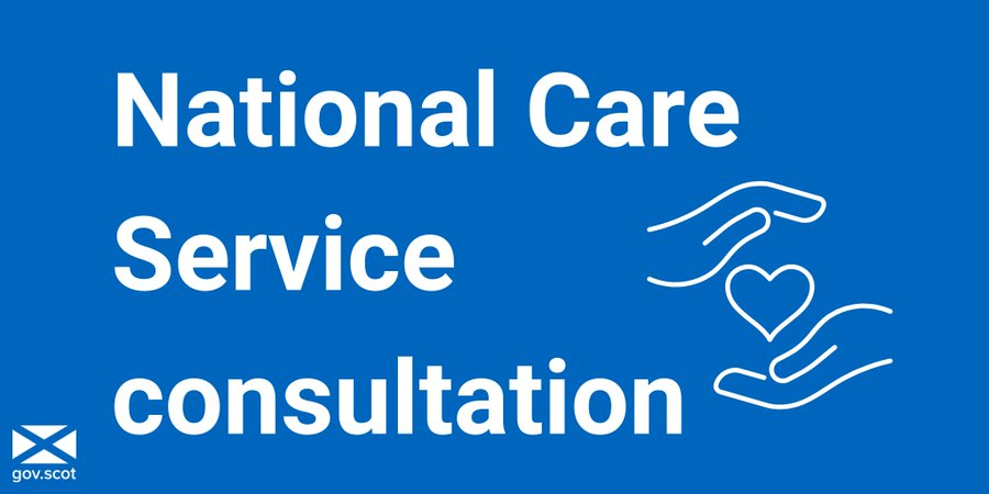 """A graphic which reads: """"National Care Service consultation"""""""