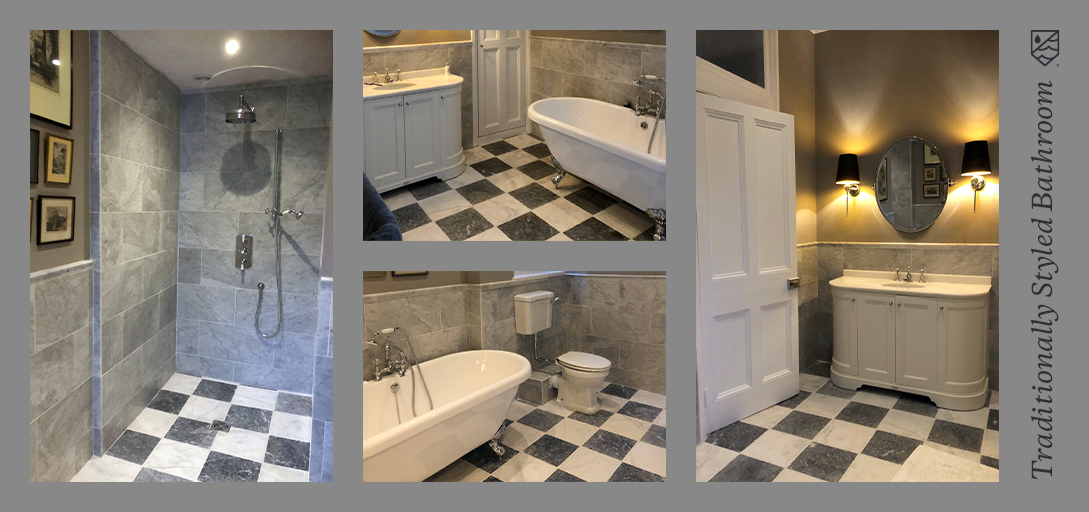 This traditional bathroom, situated in a Neo-Tudor property, truly captures the history & of the home. Capturing the history while modernising allows the bathroom to not become dated whilst following the traditional style. Learn more here >> bit.ly/3CwyKR1 #bathroom