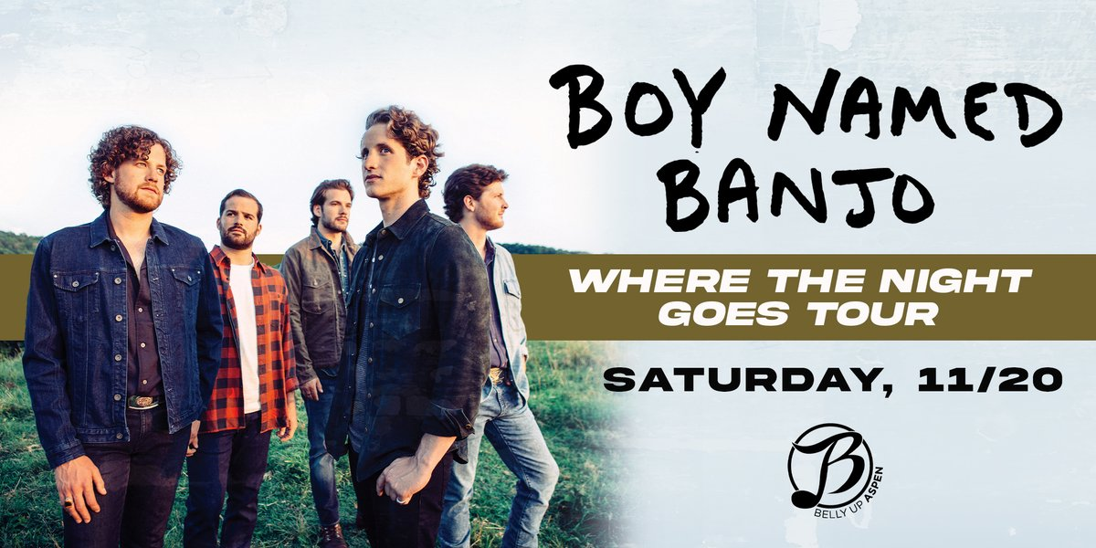 """""""Pioneering a post-modern soundscape within their roots-based musical influence"""" (American Songwriter), @BoyNamedBanjo comes 11/20! Tickets: bit.ly/3lNI2m2"""