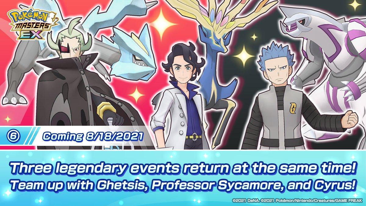 Eventos Legendarios Pokémon Masters EX