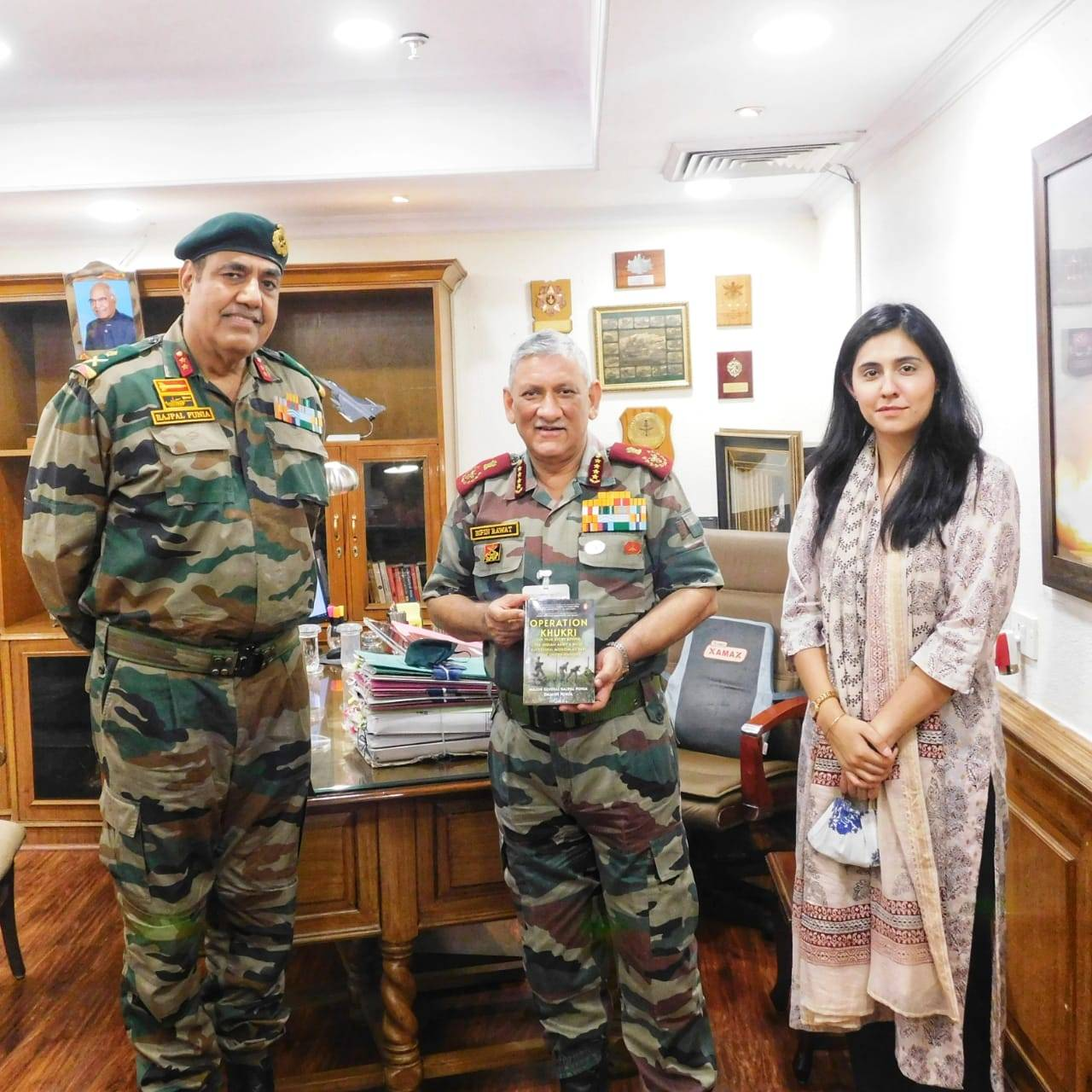 "A book Named ""OPERATION KHUKRI"" has been Released by CDS Gen Rawat: School Megamart"