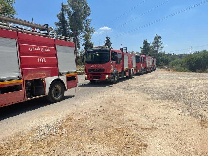 כוחות כיבוי לסטינאים הגיעו לכבות את השריפות ליד ירושלים E8_tM6rXsAQORLR?format=jpg&name=small