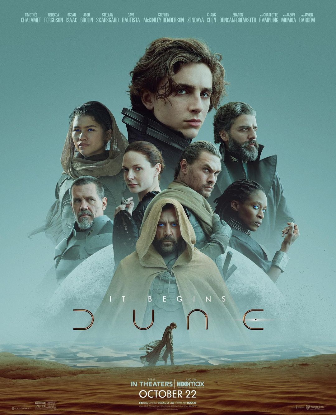 dune (2021) Feature adaptation of Frank Herbert's science fiction novel, about the son of a noble family entrusted with the protection of the most valuable asset and most vital element in the galaxy.