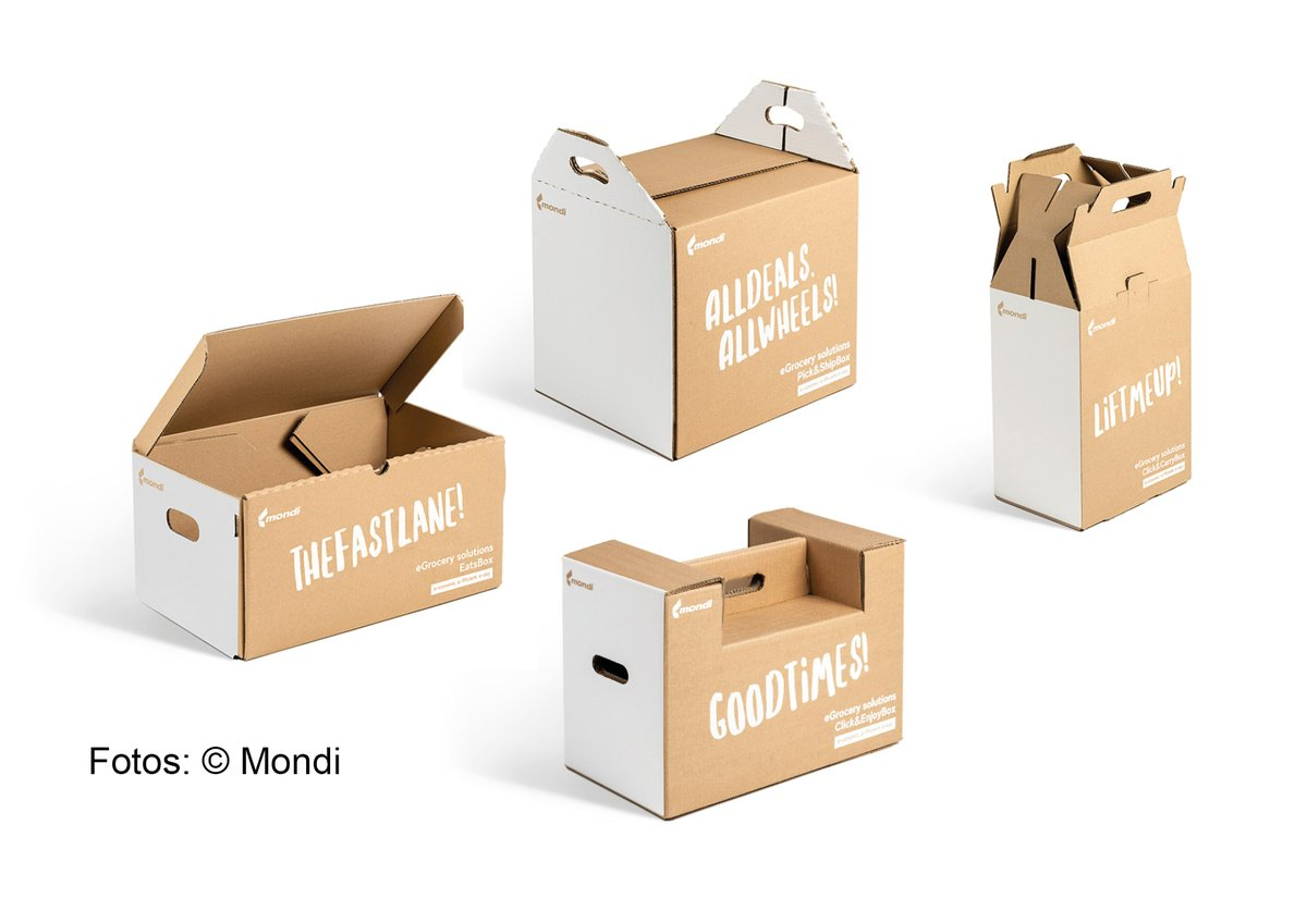 Online grocery stores need flexible packaging solutions - for the transport of wine bottles, fresh foods or spices, via food delivery services or self-pickup at supermarkets. Corrugated cardboard makes it possible.  Find out more about our products: https://t.co/XsGPZYbGIe
