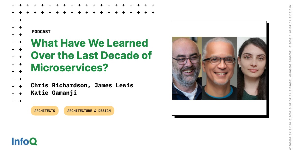 """""""You first need to raise the maturity level for delivering software, making code easier to deploy and maintain; at which point, you may not even need #microservices."""" Find out more in the podcast with @techiewatt @crichardson, @boicy, and @k_gamanji: bit.ly/3fymjL0"""