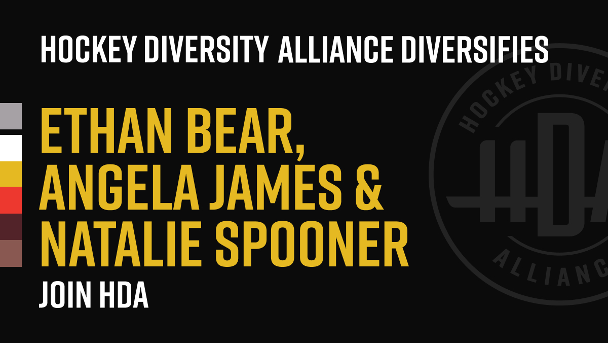 We want to share a warm welcome to Ethan Bear, Angela James, and Natalie Spooner as they join the HDA. #ISupportHDA