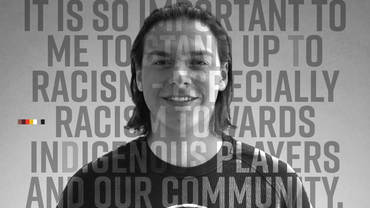 'It is so important to me to stand up to racism - especially racism towards Indigenous players and our community.' Ethan Bear |#ISupportHDA